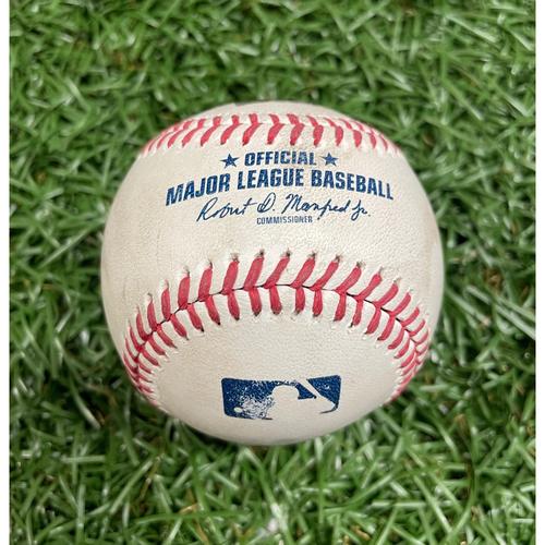 Photo of Game Used Baseball: Ji-Man Choi 2RBI single off Anthony Castro -  Mike Zunino and Brett Phillips Score - Bottom 6 - July 9, 2021 v TOR