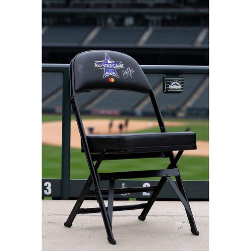 Photo of 2021 Celebrity Softball Game Autographed On Field Chair - C.C. Sabathia