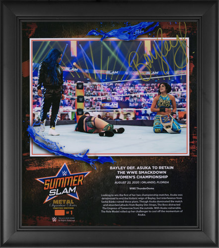 Photo of Bayley SIGNED SummerSlam 2020 Signature Series Plaque (#1 of 1)