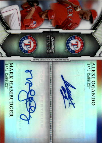 Photo of 2011 Bowman Sterling Dual Autographs Refractors #OH Alexi Ogando/Mark Hamburger