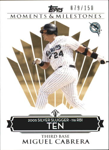 Photo of 2008 Topps Moments and Milestones #138-10 Miguel Cabrera
