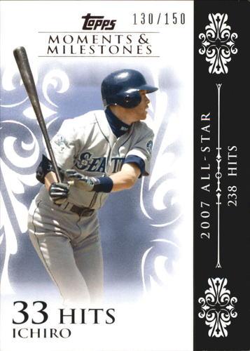 Photo of 2008 Topps Moments and Milestones #63-33 Ichiro Suzuki