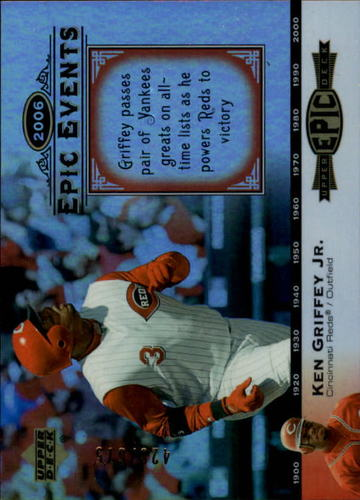 Photo of 2006 Upper Deck Epic Events #EE69 Ken Griffey Jr. /675