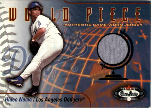 Photo of 2003 Fleer Box Score World Piece Game Jersey #HN Hideo Nomo