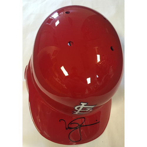 Photo of Mark McGwire Autographed Cardinals Helmet