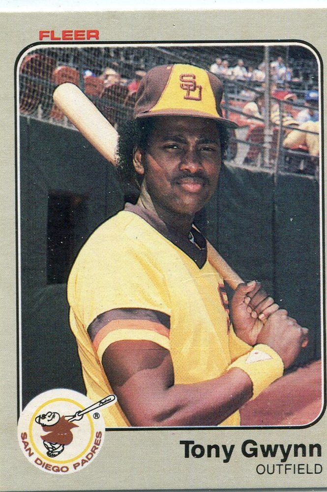 1983 Fleer #360 Tony Gwynn Rookie Card -- Hall of Famer