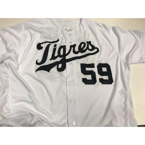 Photo of Team-Issued Leon Durham Fiesta Tigres Jersey