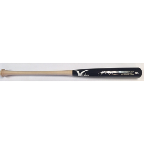 Photo of Kyle Seager Autographed Game Model Victus Bat