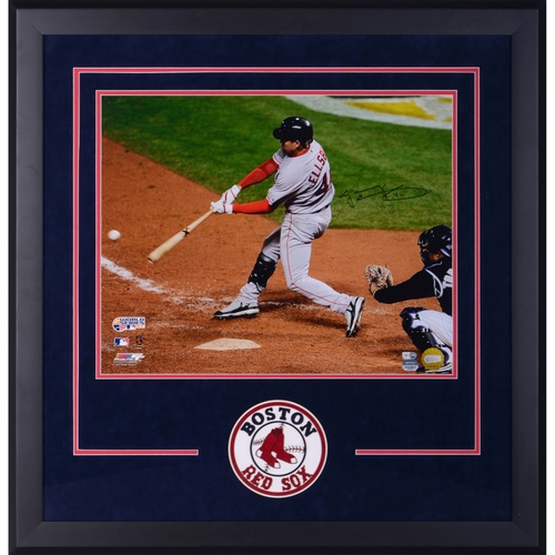 Photo of Jacoby Ellsbury Boston Red Sox Deluxe Framed Autographed 16'' x 20'' World Series Photo