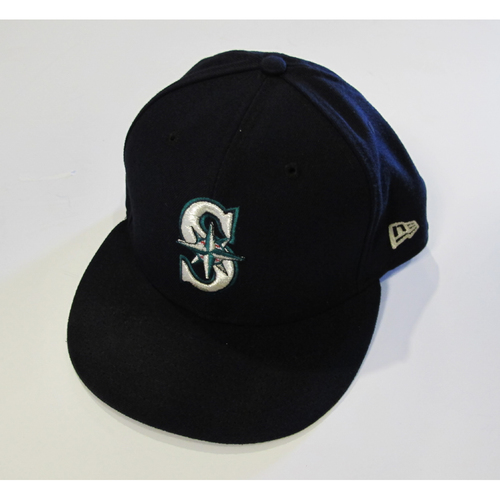 Photo of Seattle Mariners Daniel Vogelbach Team Issued 2017 Navy Cap