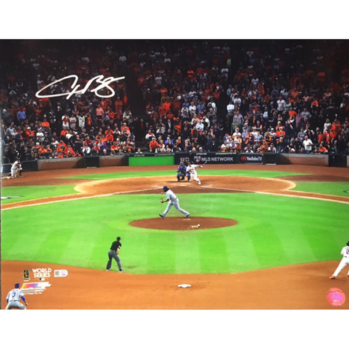 Photo of Alex Bregman Autographed 16x20 Photo - World Series Game 5 Winning Hit
