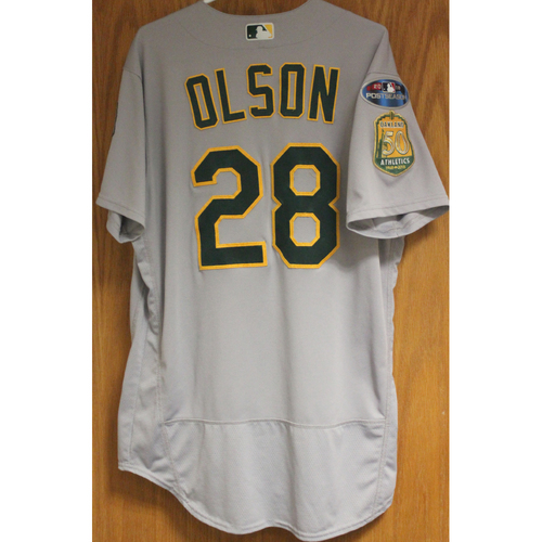 Game-Used Matt Olson 2018 Jersey
