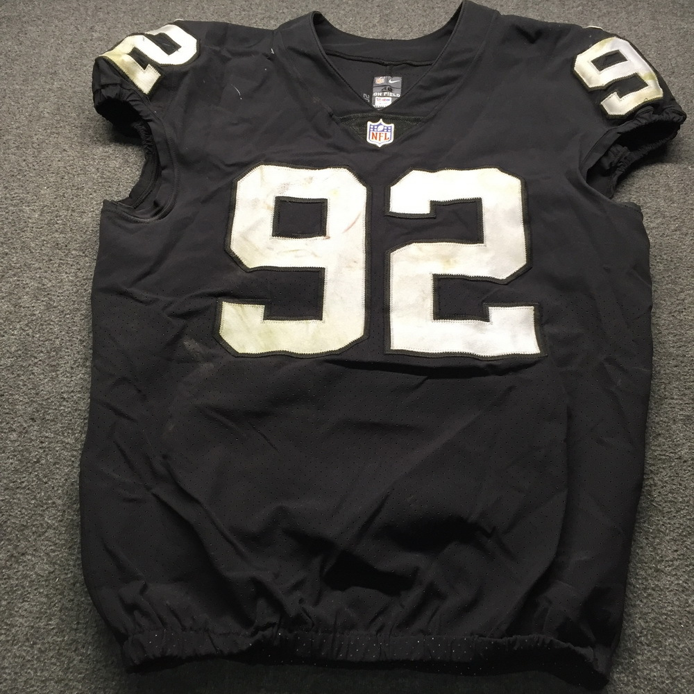 info for ee6b8 29fe7 NFL Auction | NFL - London Games Raiders PJ Hall Game Used ...