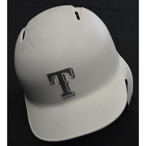 """Photo of Elvis """"EL COMANDO"""" Andrus Texas Rangers Game-Used 2019 Players' Weekend Helmet"""
