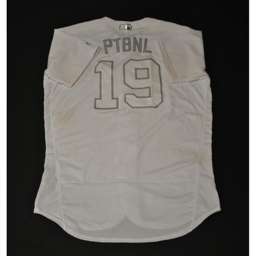"Photo of Josh ""PTBNL"" Phegley Oakland Athletics Game-Used 2019 Players' Weekend Jersey"