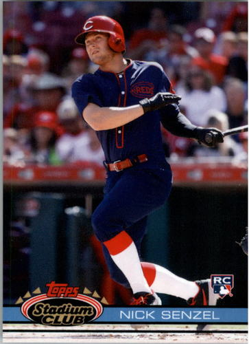 Photo of 2019 Topps Throwback Thursday #124 Nick Senzel/91 Stadium Club BB