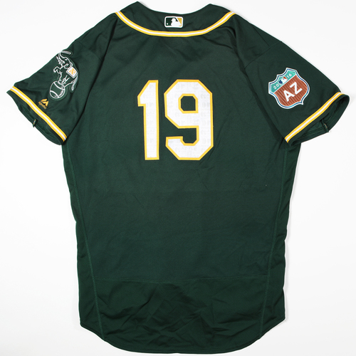 Photo of 2016 Spring Training - Spring Training Game Used Jersey - Josh Phegley (Athletics)- Size- 48