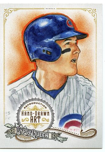 Photo of 2017 Topps Gypsy Queen Hand Drawn Art Reproductions #GQARAR1 Anthony Rizzo