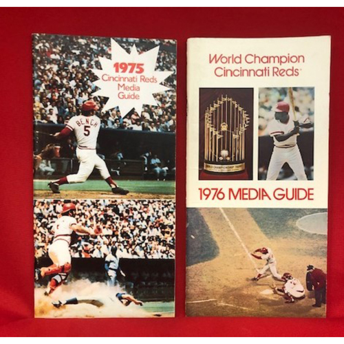 "Photo of 1975 & 1976 Cincinnati Reds ""World Series Years"" Media Guide Package"