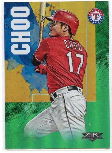 Photo of 2019 Topps Fire Green #116 Shin-Soo Choo