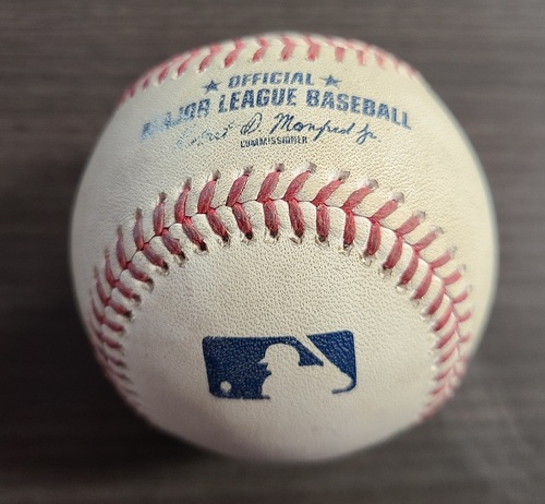 Photo of Authenticated Game Used Baseball: Foul by Chance Sisco against Chase Anderson (Aug 31, 20 vs BAL). Top 4. Game played in Buffalo.