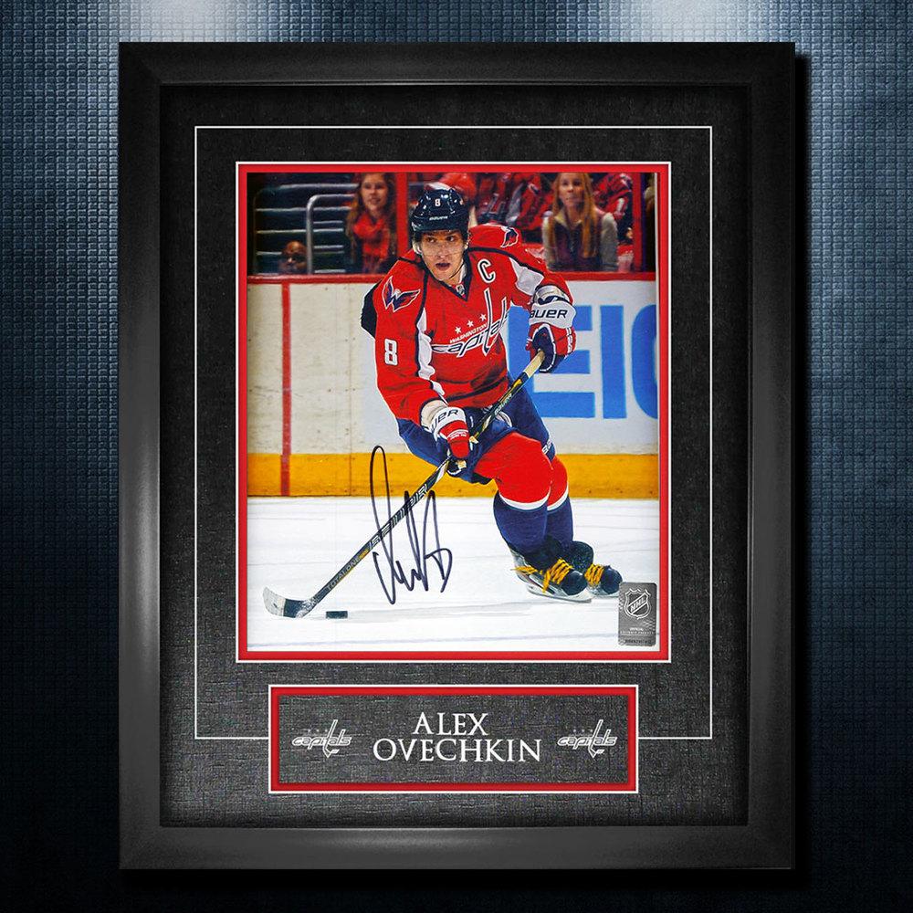 Alex Ovechkin Washigton Capitals Autographed 18x22 Frame