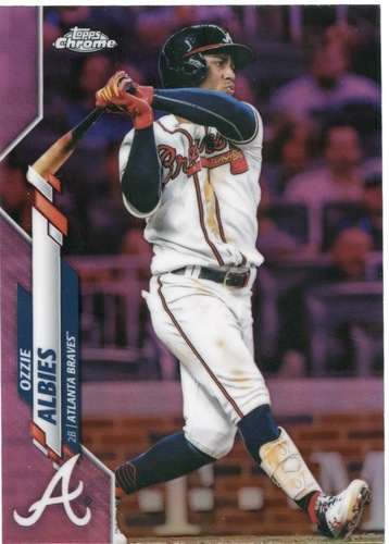Photo of 2020 Topps Chrome Pink Refractors #62 Ozzie Albies