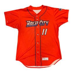 Photo of Game Worn Red Bold City Jersey Eddy Alvarez #1 Size 42
