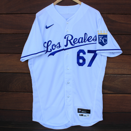 Photo of Game-Used Los Reales Jersey: Gabe Speier #67 (SEA@KC 9/17/21) - Size 44