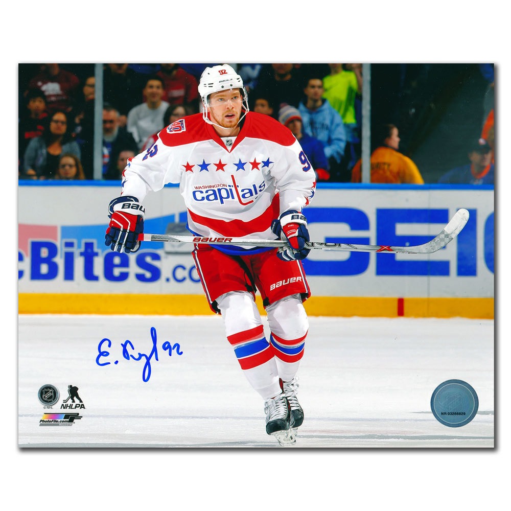 Evgeny Kuznetsov Washington Capitals Third Jersey Autographed 8x10