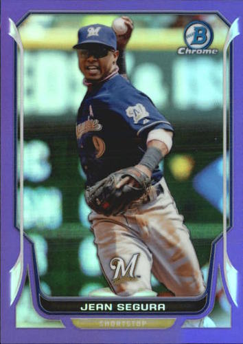 Photo of 2014 Bowman Chrome Purple Refractors #120 Jean Segura