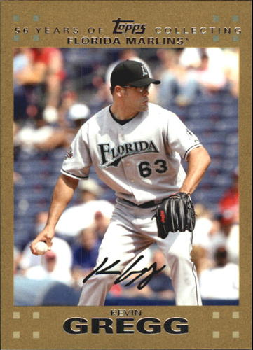 Photo of 2007 Topps Update Gold #111 Kevin Gregg