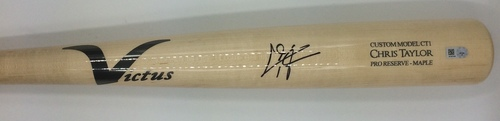 Photo of Chris Taylor Autographed Game Model Victus Bat