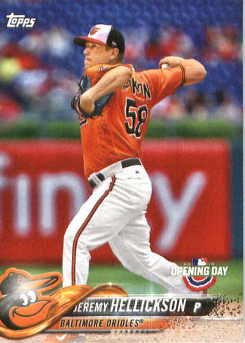 Photo of 2018 Topps Opening Day #180 Jeremy Hellickson