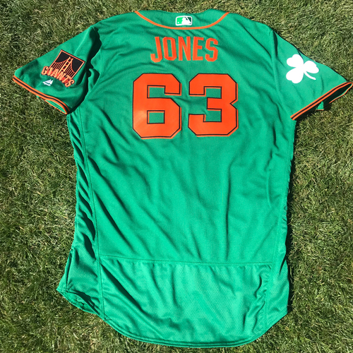 Photo of San Francisco Giants - 2018 St. Patrick's Day - Team Issued Jersey - Ryder Jones