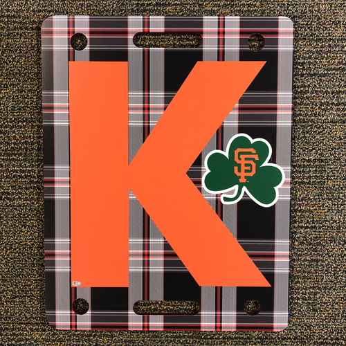 Photo of 2018 San Francisco Giants - Strikeout K Board - Irish Heritage Night