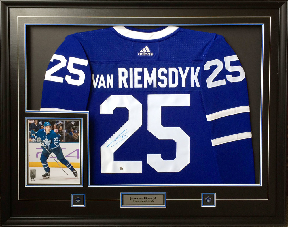 new arrival 26ca9 2a6e0 CANADA DAY SALE - James Van Riemsdyk Signed Jersey Framed ...