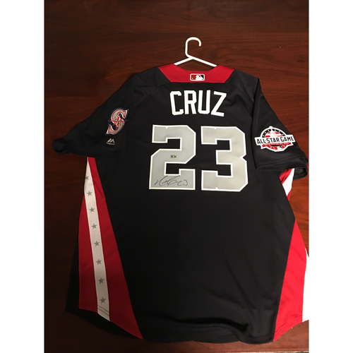 Photo of Nelson Cruz 2018 Major League Baseball Workout Day Autographed Jersey