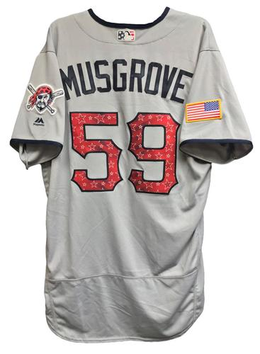 Photo of Joe Musgrove Team-Issued 2018 Stars and Stripes Jersey