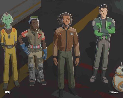 Kazuda Xiono, Jarek Yeager, Tam Ryvora, Neeku Vozo and BB-8