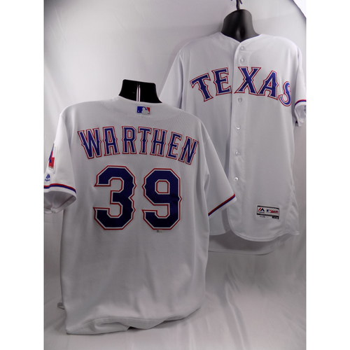 Photo of 3/29/18 - Game-Used White Jersey - Dan Warthen