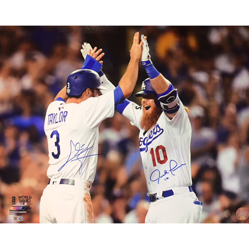 Chris Taylor & Justin Turner Dual Autographed 16x20 Photo