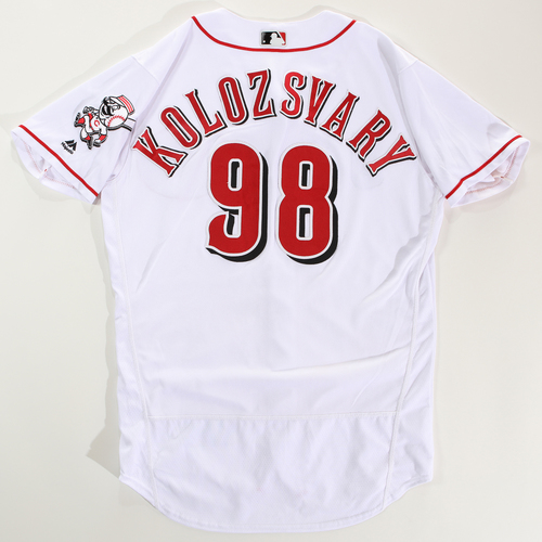 Photo of 2018 Arizona Fall League Game-Used Jersey - Mark Kolozsvary -Size 44