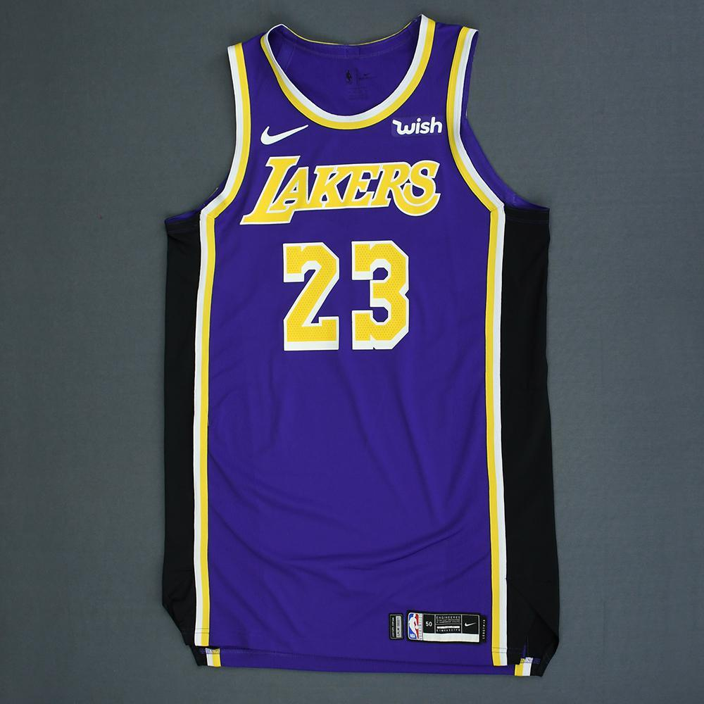 LeBron James - Los Angeles Lakers - Game-Worn Statement Edition Jersey - 2018-19 Season