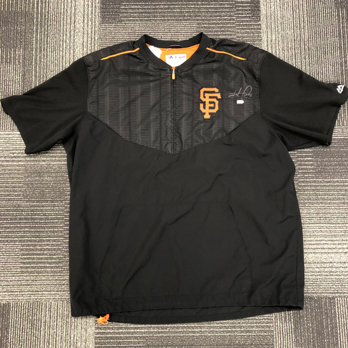 Photo of Autographed Pullover Warm Up Jacket - #8 Hunter Pence - Size XXL