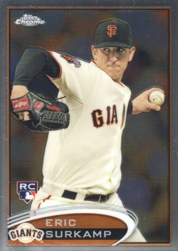 Photo of 2012 Topps Chrome #181 Eric Surkamp RC