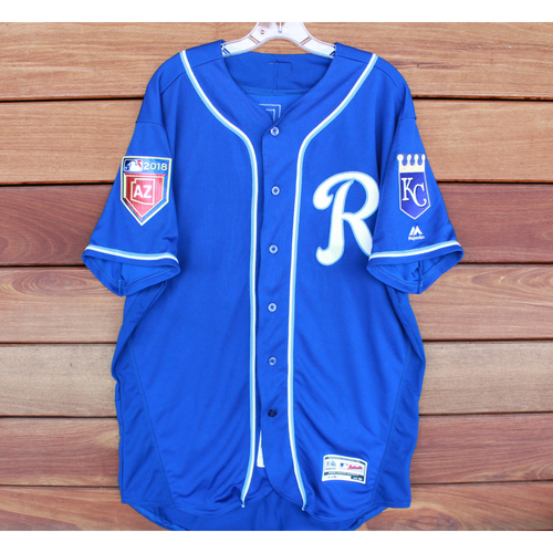 Photo of Team-Issued Spring Training Jersey: George Brett (Size - 46)