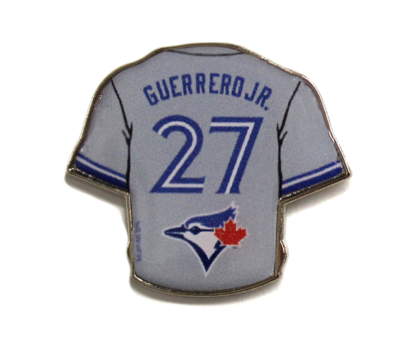 Toronto Blue Jays Guerrero Jr Grey Jersey Pin by Aminco