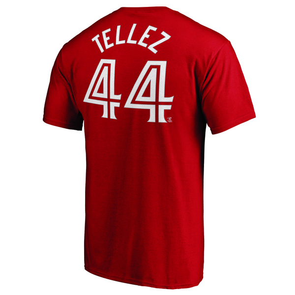 Toronto Blue Jays Rowdy Tellez Red Player T-Shirt by Majestic