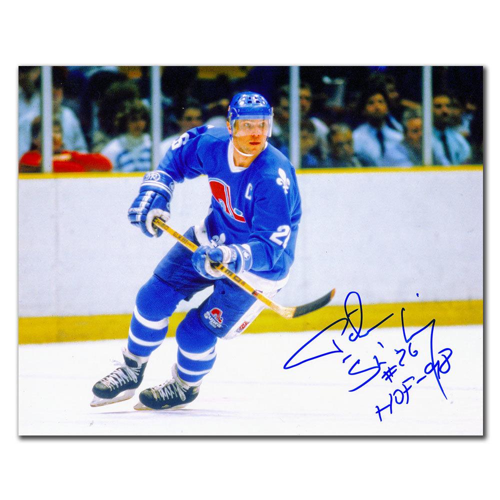 Peter Stastny Quebec Nordiques RUSH Autographed 8x10